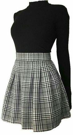 si se que el titulo es clásico pero bueno esta historia contiene: … #romance # Romance # amreading # books # wattpad Cute Skirt Outfits, Cute Skirts, Edgy Outfits, Retro Outfits, Cute Casual Outfits, Cute Dresses, Fall Outfits, Mini Skirts, Preppy Outfits