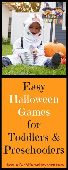 Halloween party games designed for toddlers and preschoolers. 4 Easy games that are quick to prepare.