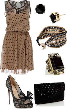 """polkadots and lace"" by shannonspeers on Polyvore"