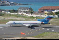 Boeing 727-212Adv/F, Amerijet International, N598AJ, cn 21947/1506, Cargo, first flight 6.7.1979 (Singapore Airlines), Amerijet delivered 6.5.1998. Foto: Sint Maarten, 7/2001.