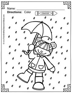 Color and Learn Rain Workout Routines. Kindergarten