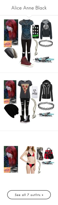 """""""Alice Anne Black"""" by michael-cliffords-girl-0302 ❤ liked on Polyvore featuring Chaser, Converse, Michael Stars, Miss Selfridge, Wildfox, LAUREN MOSHI, Ann Demeulemeester, Nicholas K, Casetify and Juvia"""
