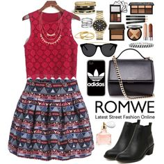 Romwe by oshint on Polyvore featuring polyvore, fashion, style, Givenchy, GUESS, Marc by Marc Jacobs, Adia Kibur, Gorjana, adidas and Smoke & Mirrors