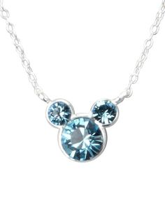 Another great find on #zulily! Sterling Silver December Birthstone Mickey Necklace #zulilyfinds