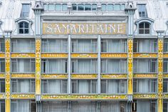 SANAA's overhaul of La Samaritaine department store opens in Paris Art Nouveau, Conceptual Sketches, Ryue Nishizawa, Historical Monuments, Retail Interior, Paris, Facade Architecture, Art Deco Design, Department Store