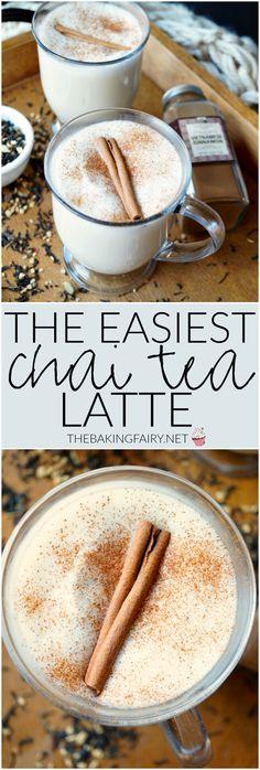 the easiest chai tea latte | The Baking Fairy