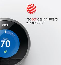 The Nest Learning Thermostat won the reddot design award!