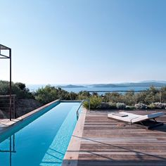 corinne vezzoni et associés / villa à sainte-lucie de porto vecchio, corse #swimming #pool #piscina