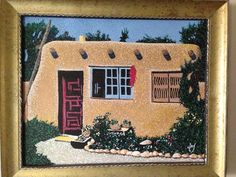 The house Olive Rush lived in, in Santa Fe, early 50's. My father, Robert Clay, did this for me from a photo he had. He rented a room from her.