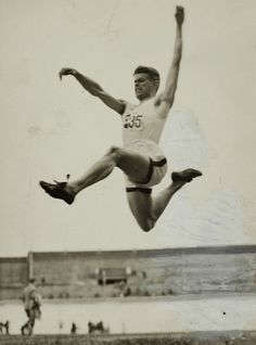Oleg Runson demonstrates beautifully the sport of 'Elevated Sprinting' at the Track and Field stadium at the 53 Olympics.