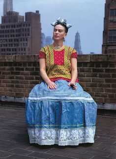 Frida sul tetto, New York 1946