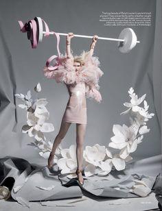 Paper plates for British Vogue. Shona Heath set designer shot by her husband Tim Gutt.