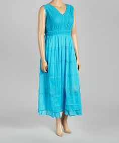This Turquoise Lace Maxi Dress - Plus is perfect! #zulilyfinds