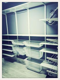 ikea algot shelves in corner closet pinterest pantry shelves and ikea. Black Bedroom Furniture Sets. Home Design Ideas