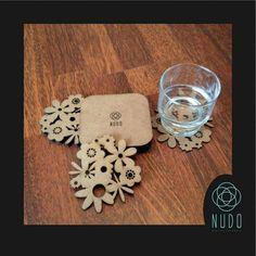 Copa madera posavasos posavasos portavasos de madera por NudoDiseno
