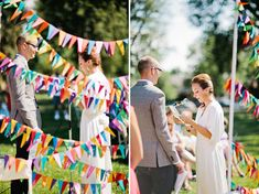 triangle banner backdrop // fresh in love photography + green wedding shoes.