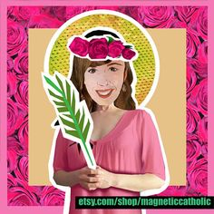 Saint Agatha, the patron saint for those who have Breast Cancer. Magnetic Catholic paper doll set.