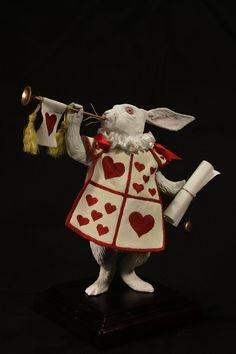 white rabbit by kezeff on DeviantArt John Tenniel, Alice In Wonderland Illustrations, Alice Madness, Fairytale Art, Paperclay, Adventures In Wonderland, Art Dolls, Art Reference, Fairy Tales