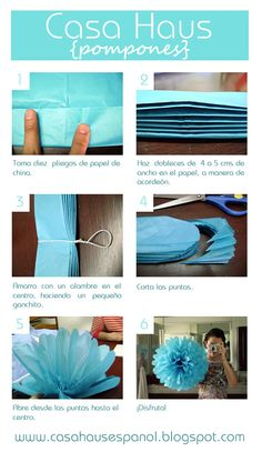 Pompones tutorial... @Edie Tunstall and @Casey Dalene Tunstall these are something both Casey and I plan on using in our weddings! It seems simple for us to be able to do!