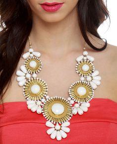 Zad Neptune's Treasure White Necklace #lovelulus