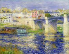 Bridge at Chatou by Pierre Auguste Renoir