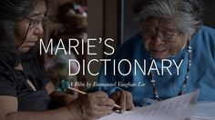 This short documentary tells the story of Marie Wilcox, the last fluent  speaker of the Wukchumni language and the dictionary she created in an  effort to keep her language alive.