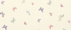 Summer Meadow Butterfly Wallpaper, Cerise Pink/Multi at Laura Ashley
