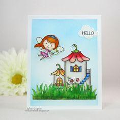 YNS Supplies: Fairytale Home stamp set | Stitched Grass Die | Puffy Cloud Die Set