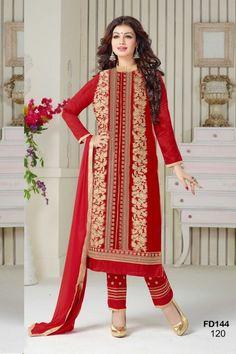THANKAR RED COTTON STRAIGHT SUIT ONLINE SHOPPING #clothing #dress #ayeshatakia clothing