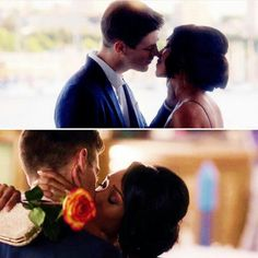 Them Kisses!!! #WestAllen  Grant Gustin = Barry Allen = The Flash (The CW) + + Candice Patton = Iris West // @WithLoveReesie