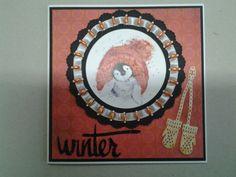 Winterkaart gemaakt met materialen van Marianne design