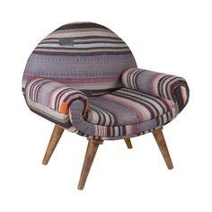 Jaipur Arm Chair in Vintage Kantha