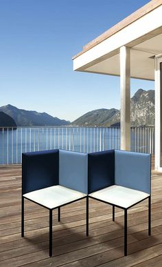 original, modern, design furniture, seating, bench, blue, green leather
