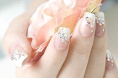 11. Nails - classic french manicure with a twist. #modcloth #wedding