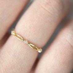 JESSICA Ring 14k Gold Diamond Wedding Band 14k Gold Diamond