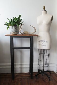 Tall Industrial Side Table