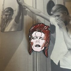 Ziggy Stardust / David Bowie pin by Thread Famous www.threadfamous.co.uk