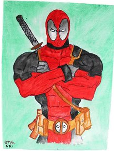Handmade acrylic Deadpool painting finished with a layer of glaze This painting comes unframed and it's a perfect gift idea for a Marvel fan Deadpool Painting, Deadpool Fan Art, Marvel Fan Art, Unique Paintings, Paintings For Sale, Art Paintings, Painting & Drawing, Blue Wrapping Paper, Paint Finishes
