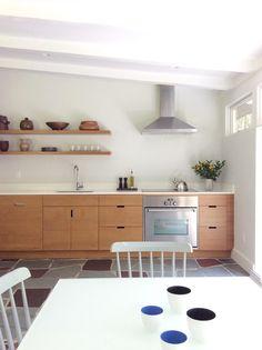 IKEA® kitchen with Semihandmade Rift Teak fronts.