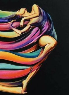 ORIGINAL ART Fantasy rainbow dancer nude female abstract oil painting G. Project Life Scrapbook, Women In Leadership, Female Art, Painting & Drawing, Pop Art, Art Drawings, Art Projects, Original Art, Abstract Art