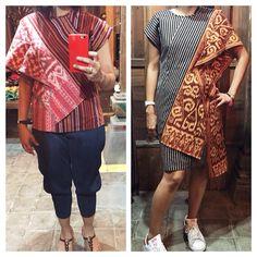 Top & Dress. Batik Lurik by Phillip Iswardono, Jogjakarta.