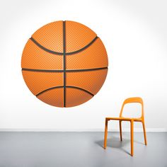 Printed Basketball Wall Decal