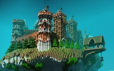 floating-minecraft-island-fortress