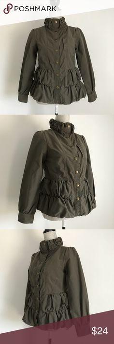 A.M.I Jacket A.M.I Jacket - Adorable Army green lightweight, feminine utility jacket. Snap closure.  EUC A.M.I Jackets & Coats Utility Jackets