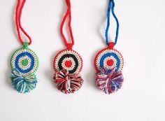 crochet necklace by miraco