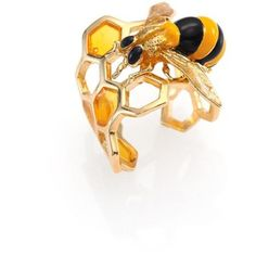 Delfina Delettrez To Bee or Not To Be Honeycomb Ring