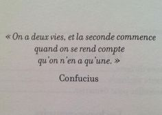 #FirstLife #SecondOne #Confucius