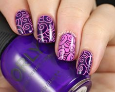 Sunday Stamping - Positive/Negative and Pulsating Pink & Purple Nails