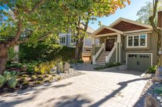 Heritage style home with a combination of wood and stucco