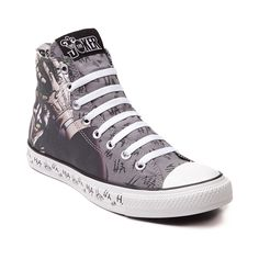 Shop for Converse All Star Hi Joker Sneaker in Gray at Journeys Shoes. Shop today for the hottest brands in mens shoes and womens shoes at Journeys.com.Known as The Joker, he indulges in the pleasures of menacing mind games, causally cackling in the face of heroism and all things wholesome. Hes a serious threat to Gotham, but not all that serious himself.Straight out of Arkham Asylum and available only at Journeys, this Joker edition Converse All Star Hi features a gray canvas upper with ...
